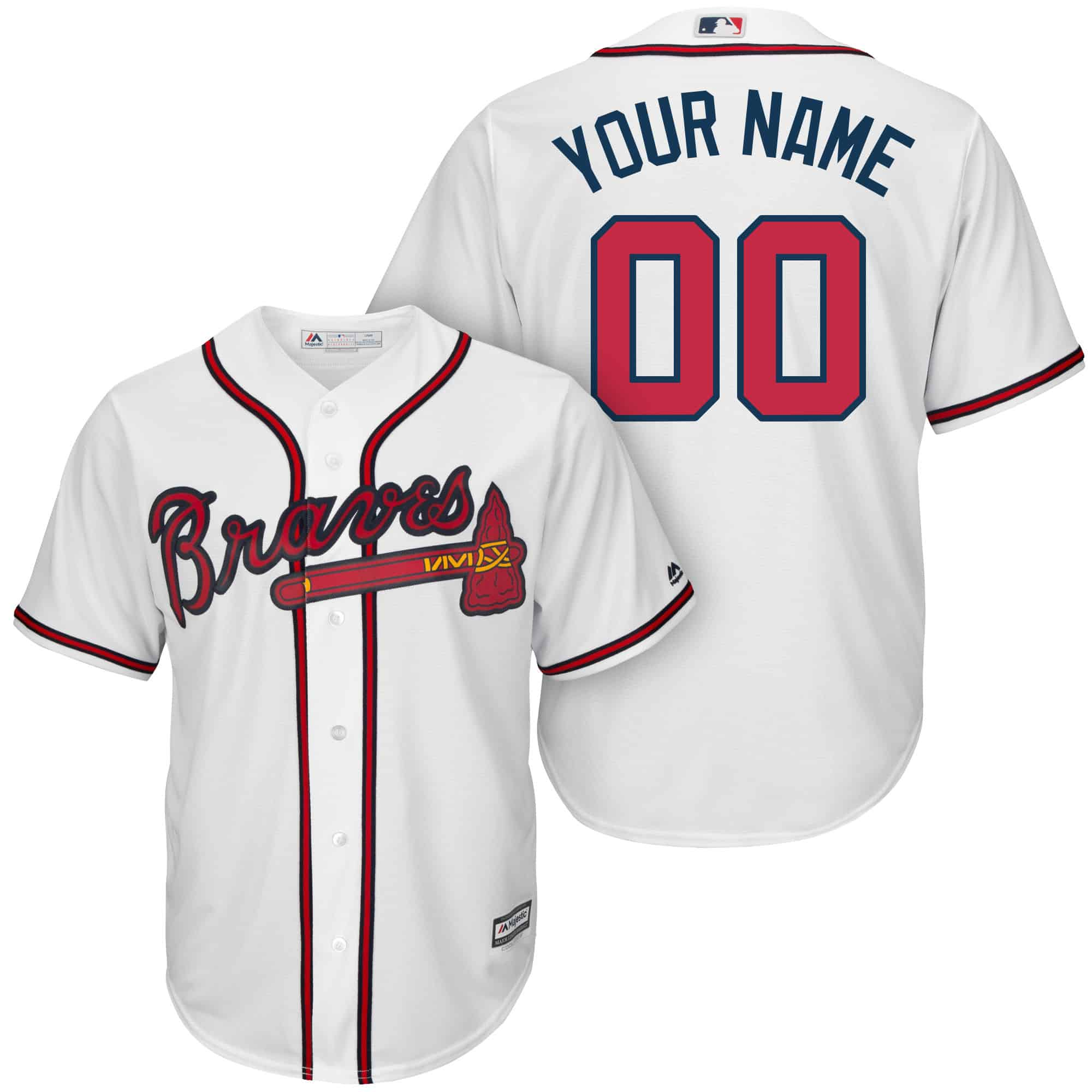 Atlanta braves jersey tee hoodie s 2x big 3x 4x 5x 6x for Big and tall custom shirts