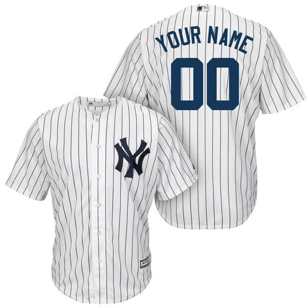 Ny yankees custom jerseys white pinstripe s m l xl xxl 3x 3xl 4x 4xl 5x 5xl 7a6c04aebc3